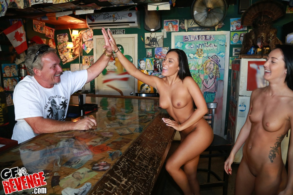Sexy girls at bar college nude #7